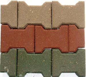 Тротуарная плитка вибропрессованная *Катушка* 60 мм серая
